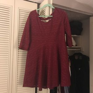 Red Lace target sleeved flare dress size xxl